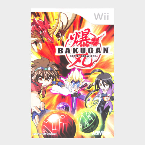 Bakugun Battle Brawlers Wii Game Manual