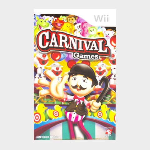 Carnival Games Wii Game Manual