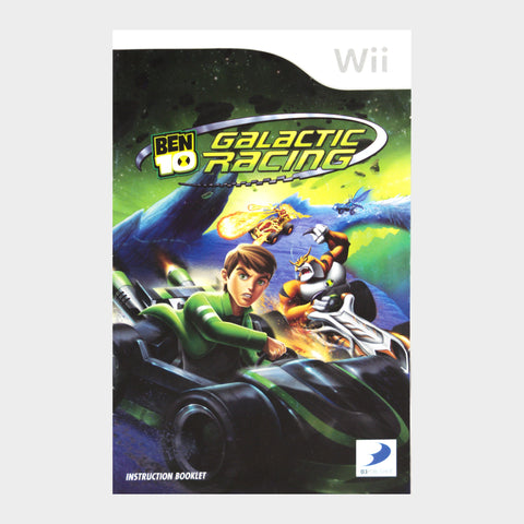 Ben 10 Galactic Racing Wii Game Manual