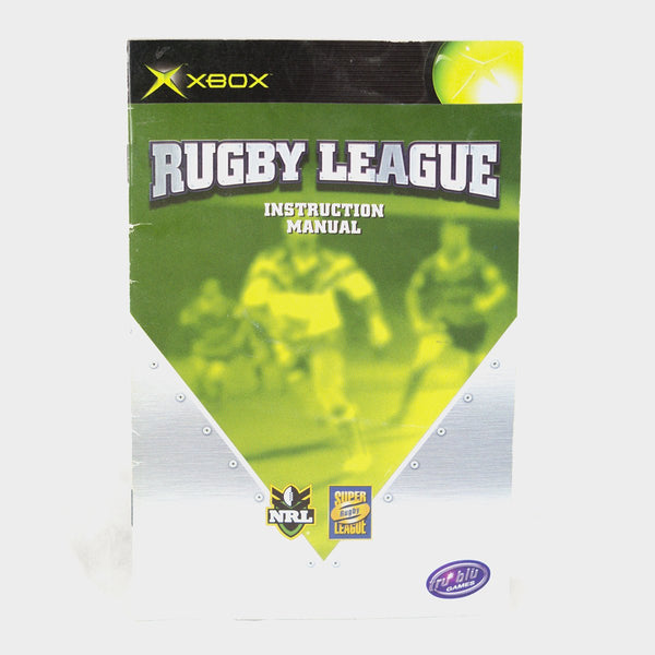 Rugby League Original Xbox Manual