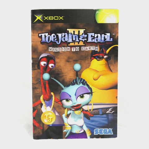 Toe Jam And Earl 3 (III) - Mission To Earth Original Xbox Manual