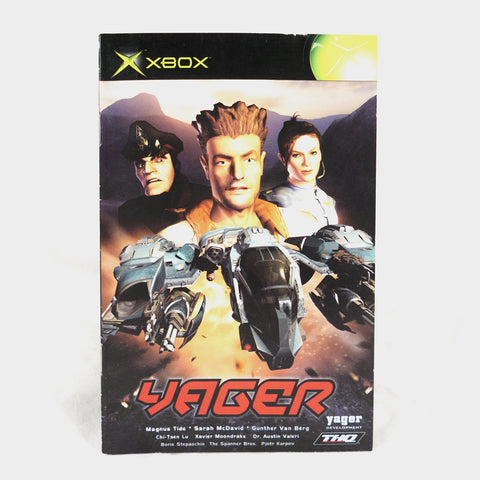 Yager Original Xbox Manual