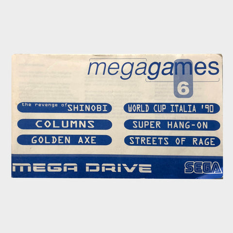 Mega Games 1 Manual Sega Mega Drive | Second Potion Australia