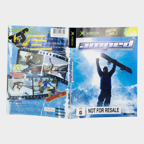 Amped Freestyle Snowboarding Original Xbox Game Sleeve