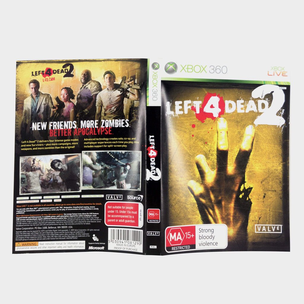Left 4 Dead 2 Xbox 360 Game Sleeve