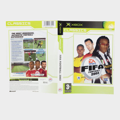 Ea Sports - Fifa Football 2003 - Classics Original Xbox Game Sleeve