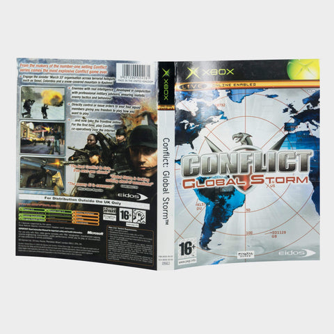 Conflict Global Storm Original Xbox Game Sleeve