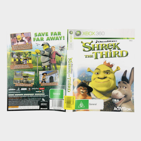 Dreamworks Shrek The Third Xbox 360 Game Sleeve