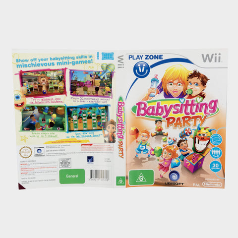 Babysitting Party Wii Game Sleeve