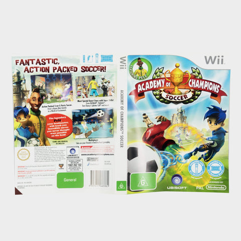 Academy Of Champions Soccer Wii Game Sleeve