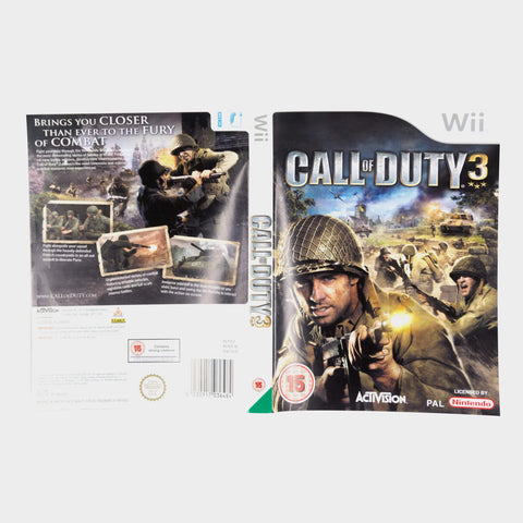 Call Of Duty 3 Wii Game Sleeve
