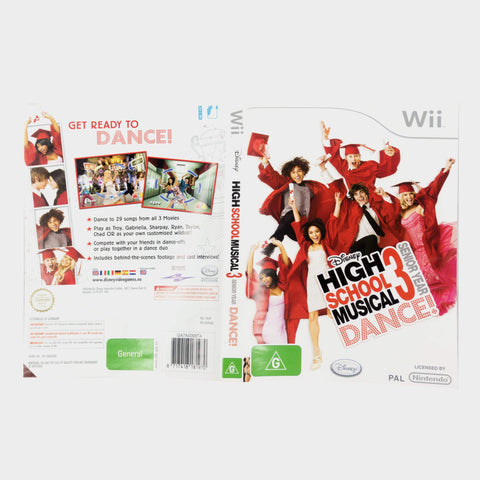 Disney High School Musical 3 - Senior Year - Dance! Wii Game Sleeve