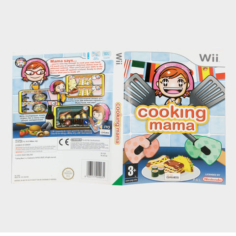 Cooking Mama Wii Game Sleeve