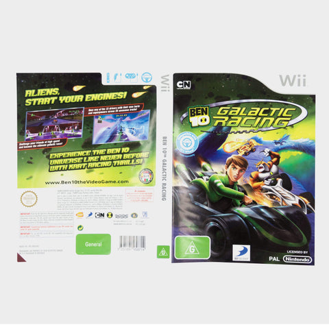 Ben 10 Galactic Racing Wii Game Sleeve