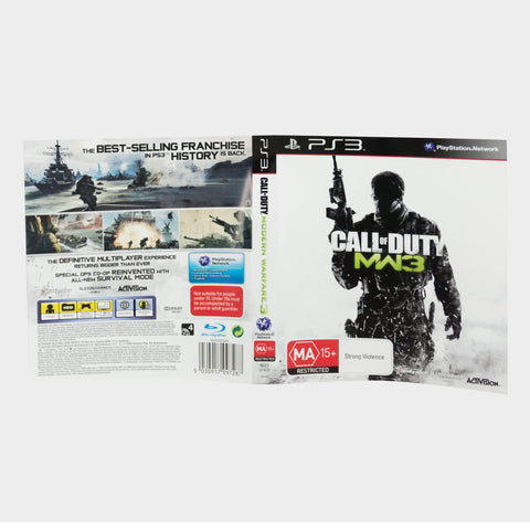 Call Of Duty - Modern Warfare 3 Playstation 3 (Ps3) Game Sleeve