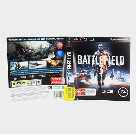 Battlefield 3 Playstation 3 (Ps3) Game Sleeve