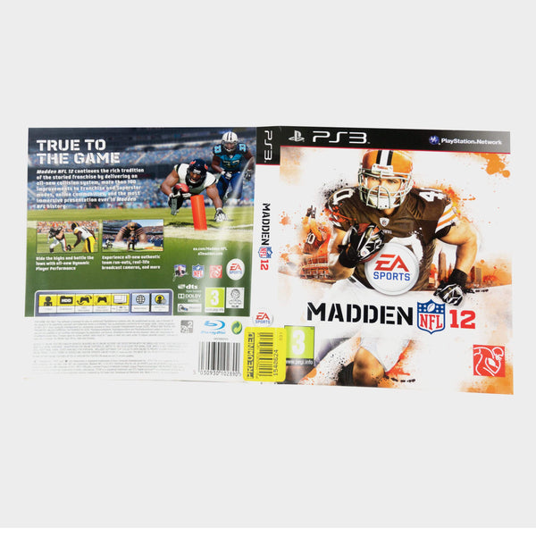 Ea Sports - Madden Nfl 12 Playstation 3 (Ps3) Game Sleeve