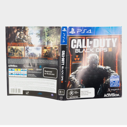 Call Of Duty - Black Ops 3 (Iii) Playstation 4 (Ps4) Game Sleeve