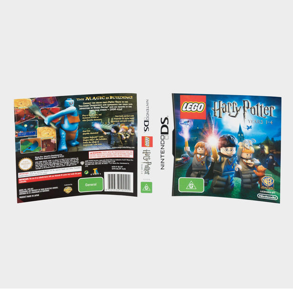 Lego Harry Potter Years 1 - 4 Nintendo Ds Game Sleeve