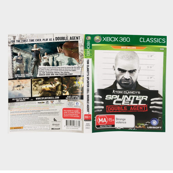Tom Clancy's Splinter Cell - Double Agent - Classics Xbox 360 Game Sleeve