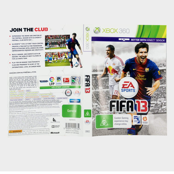 Ea Sports - Fifa 13 Xbox 360 Game Sleeve