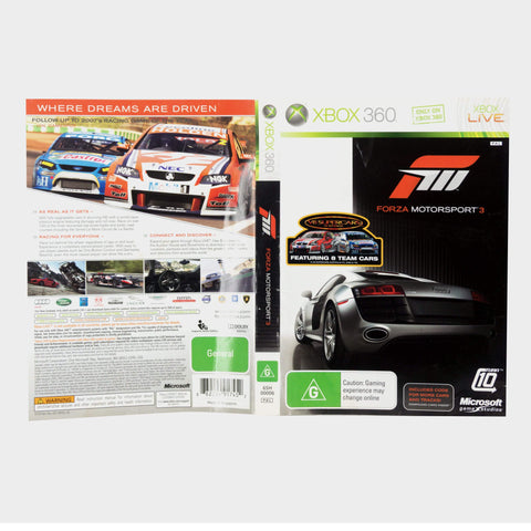 Forza Motorsport 3 Xbox 360 Game Sleeve