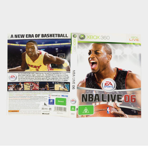 Ea Sports - Nba Live 06 Xbox 360 Game Sleeve