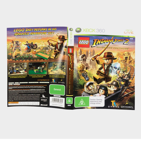 Lego Indiana Jones 2 - The Adventure Continues Xbox 360 Game Sleeve