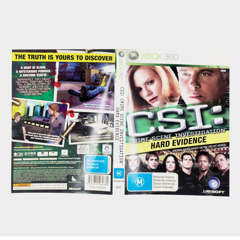 Csi - Crime Scene Investigation - Hard Evidence Xbox 360 Game Sleeve