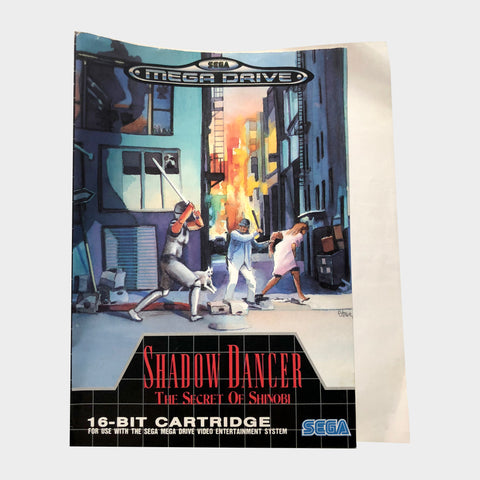 Shadow Dancer - SOS Sleeve Insert Sega Mega Drive | SP Australia
