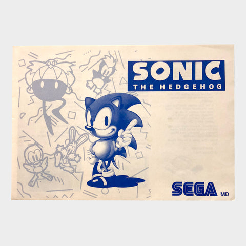 Sonic the Hedgehog Game Manual Sega Mega Drive | SP Australia