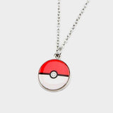 Pokemon Necklace Pokeball Enamel Pendant
