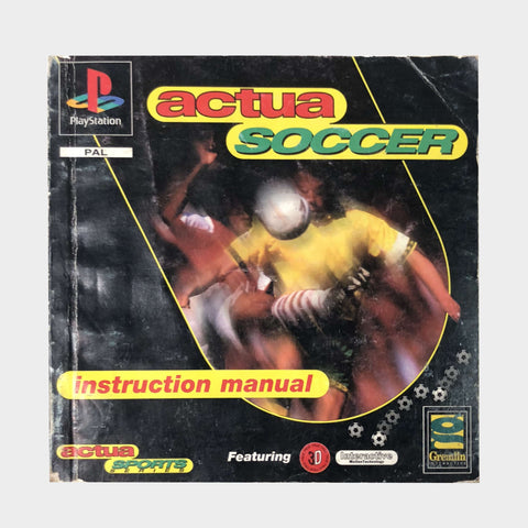 Actua Soccer Game Manual Playstation | Second Potion Australia