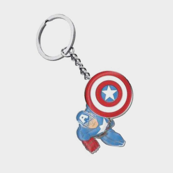 Captain America Metal Keychain / Official Marvel | SP Australia