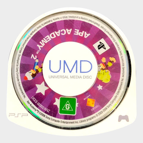 Ape Escape Academy 2 UMD Game PSP | Second Potion Australia