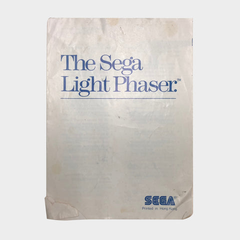 Sega Light Phaser Manual Sega Master System | Second Potion Australia