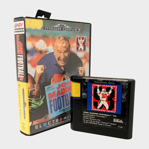 John Madden Football 93 Game Sega Mega Drive | SP Australia