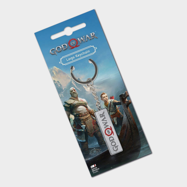 God of War Brushed Metal Keychain