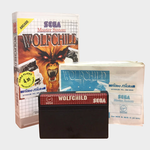Wolfchild Game Sega Master System | Second Potion Australia