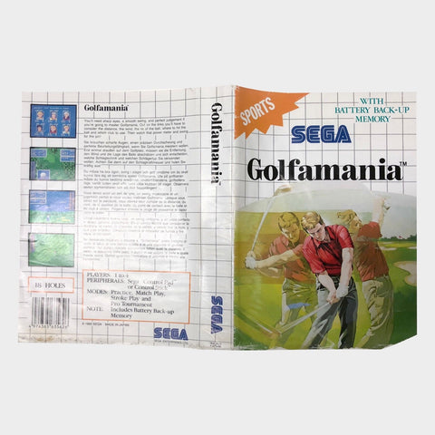 Golfmania Box Sleeve Sega Master System | Second Potion Australia