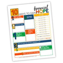 10 Ways To Gain Financial Hope Worksheet (PDF)