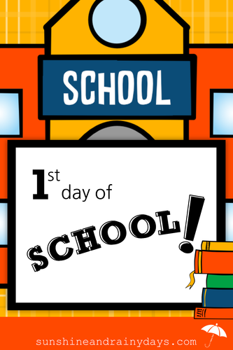 First Day Of School (PDF)