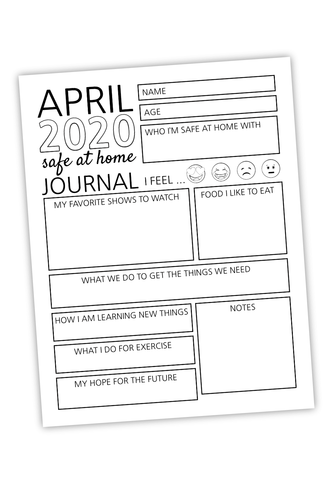 April 2020 Safe At Home Journal For Bloggers (PDF)