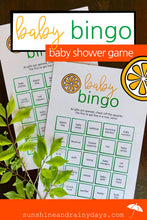 Baby Bingo - Baby Shower Game (PDF)