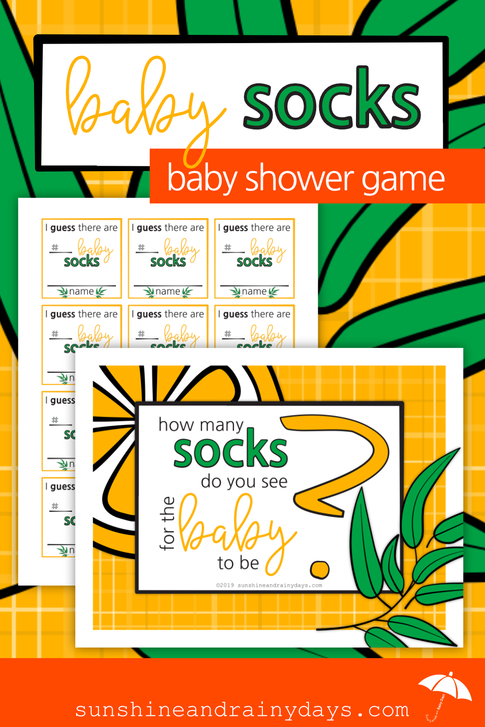 How Many Socks - Baby Shower Activity (PDF)