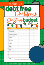 Christmas Budget Worksheet (PDF)