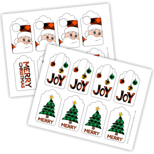 Christmas Gift Tags - Buffalo Plaid (PDF)
