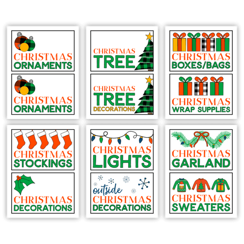 Christmas Storage Box Labels (PDF)