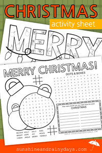 Christmas Activity Sheet (PDF)