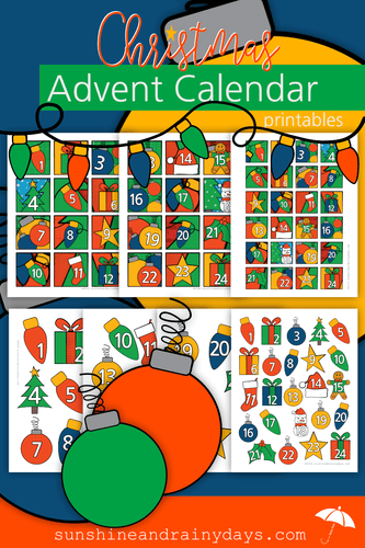 Christmas Advent Calendar Numbers or Gift Exchange #'s (PDF)
